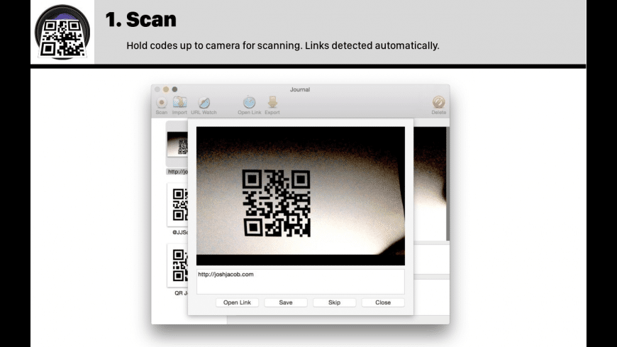 QR Journal for Mac - review, screenshots