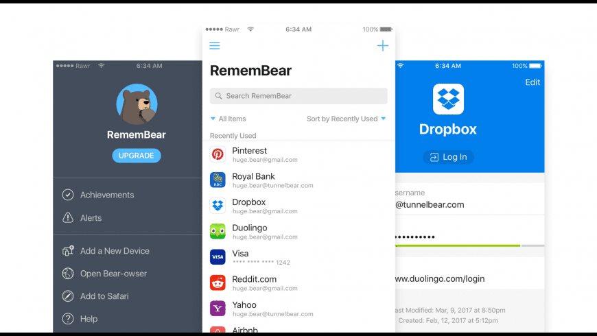 RememBear for Mac - review, screenshots
