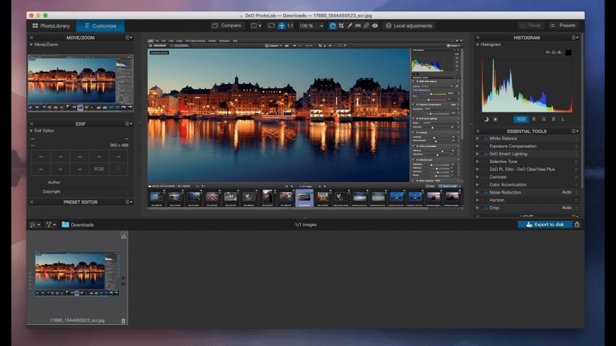 DxO PhotoLab for Mac - review, screenshots