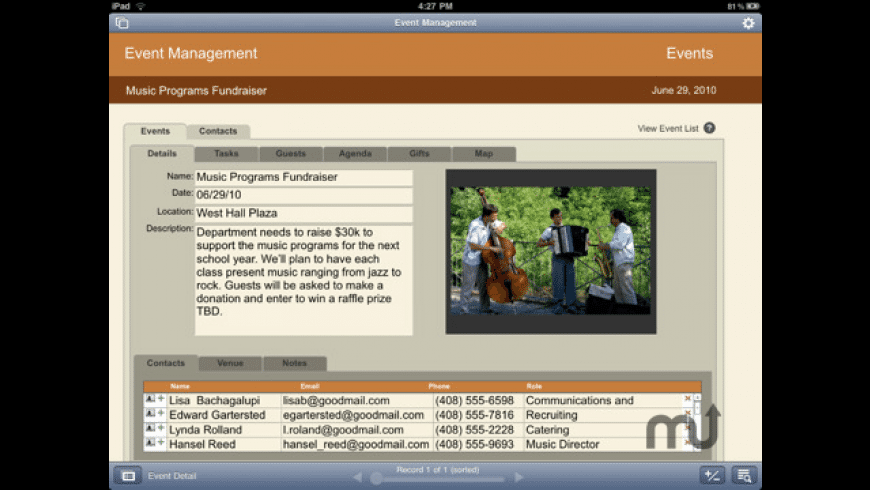 FileMaker Go for iPad for Mac - review, screenshots