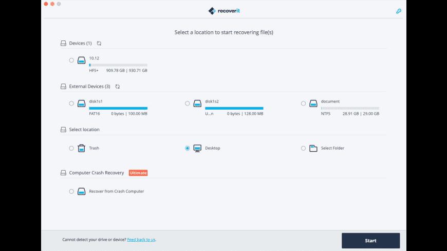 Wondershare Recoverit Free for Mac - review, screenshots