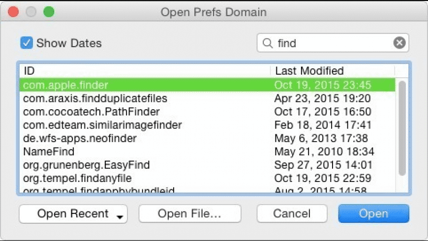 Prefs Editor for Mac - review, screenshots