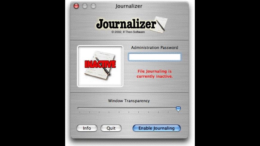Journalizer for Mac - review, screenshots