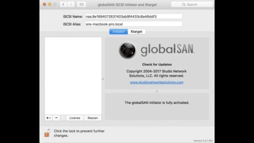 globalSAN for Mac - review, screenshots