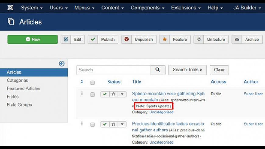 Joomla! for Mac - review, screenshots