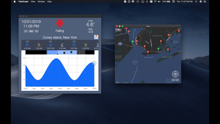 Tide Graph for Mac - review, screenshots