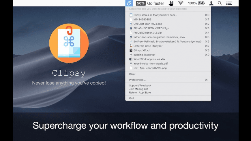 Clipsy for Mac - review, screenshots