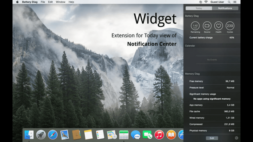 Battery Monitor for Mac - review, screenshots