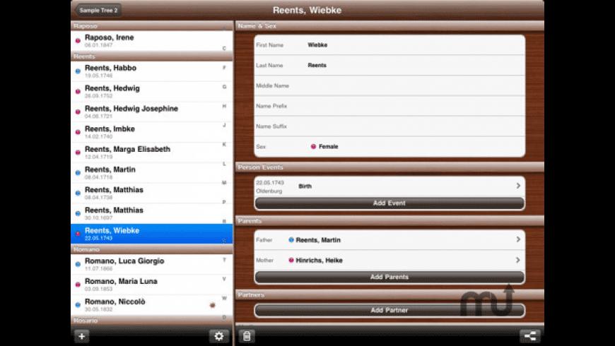 MobileFamilyTree for Mac - review, screenshots