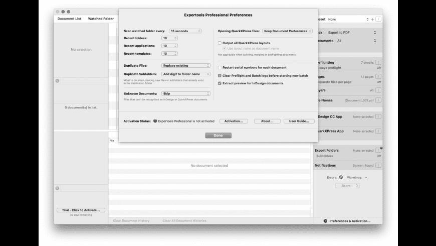 Badia Exportools Professional for Mac - review, screenshots