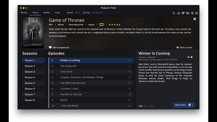 Popcorn Time for Mac - review, screenshots