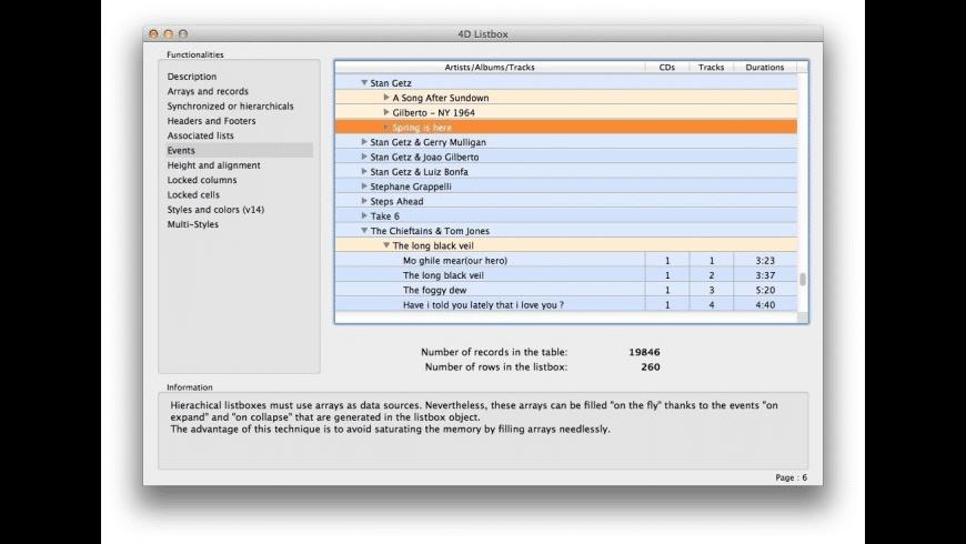 4D for Mac - review, screenshots