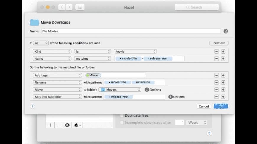 Hazel for Mac - review, screenshots