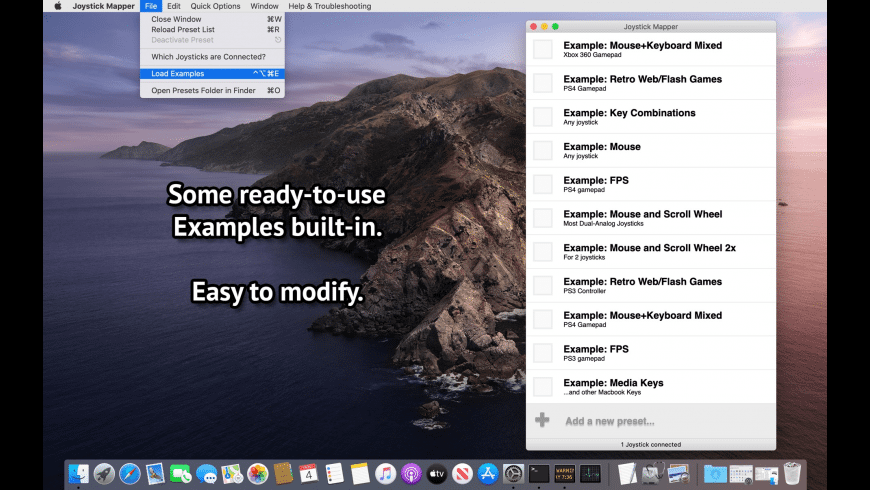 Joystick Mapper for Mac - review, screenshots