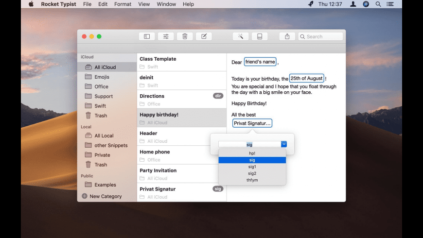 Rocket Typist for Mac - review, screenshots