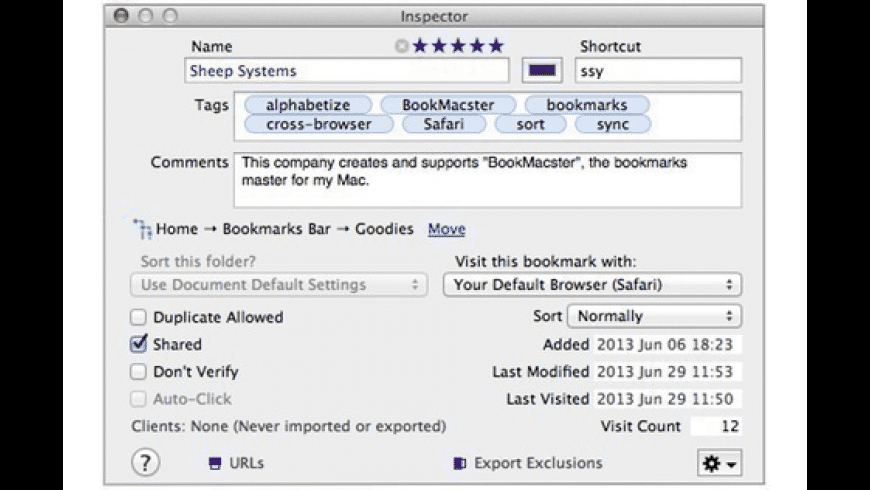 BookMacster for Mac - review, screenshots