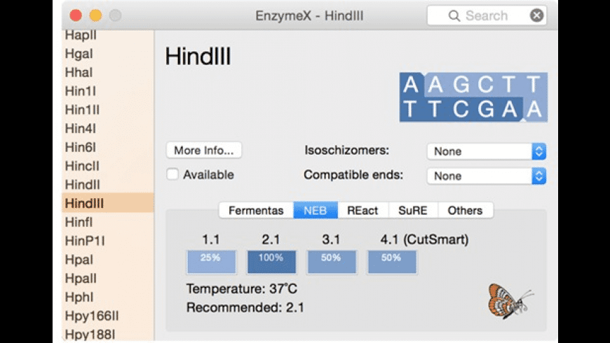 EnzymeX for Mac - review, screenshots