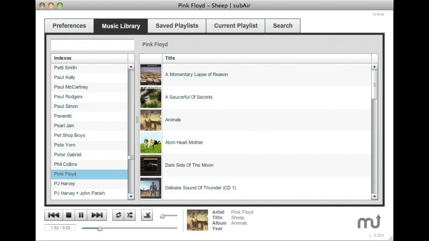 Subsonic for Mac - review, screenshots