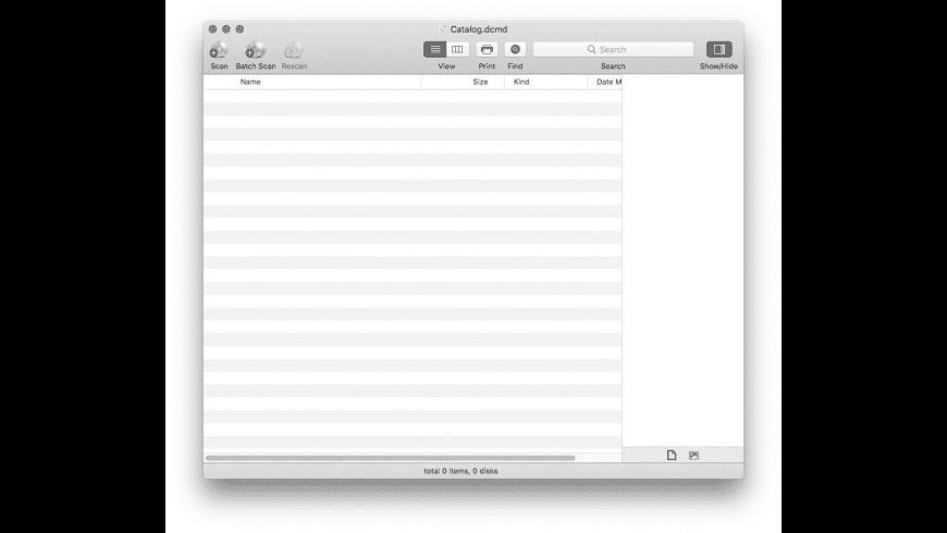 DiskCatalogMaker for Mac - review, screenshots
