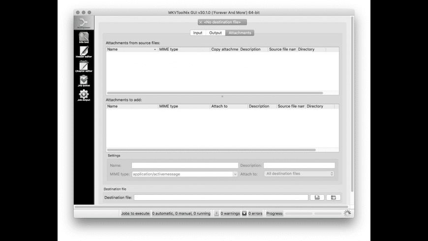MKVtoolnix for Mac - review, screenshots