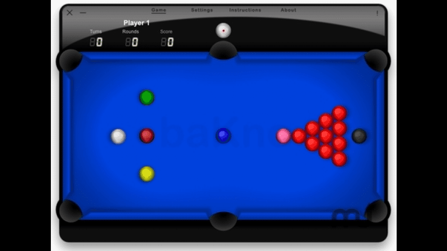 Snooker for Mac - review, screenshots