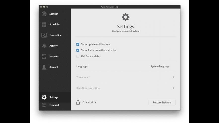 Avira for Mac - review, screenshots