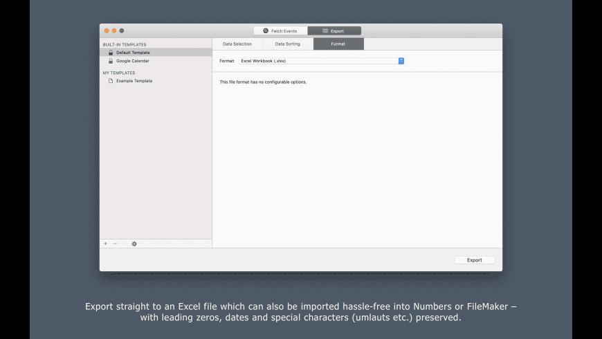 Export Calendars Pro for Mac - review, screenshots