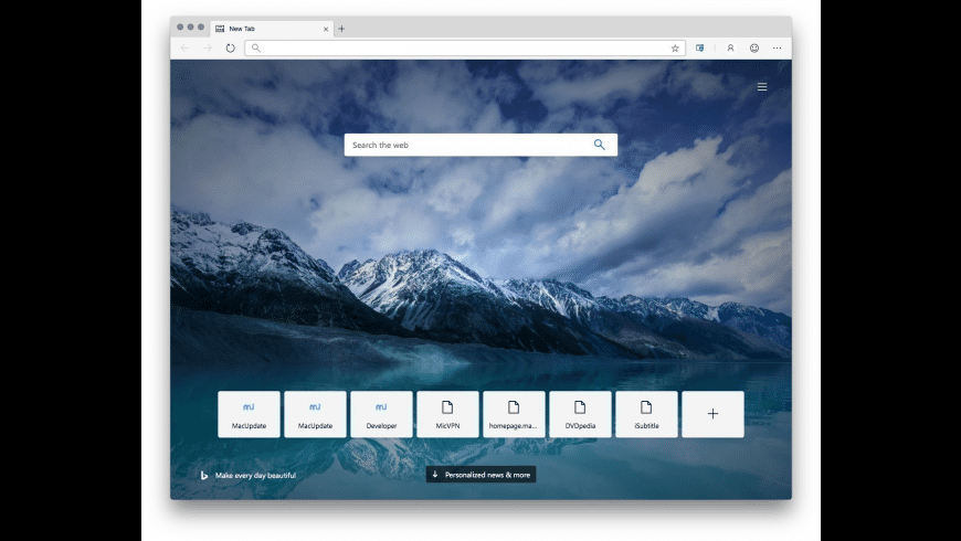 Microsoft Edge for Mac - review, screenshots