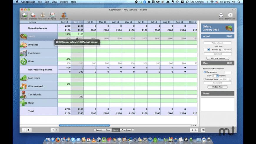 Cashculator Free for Mac - review, screenshots