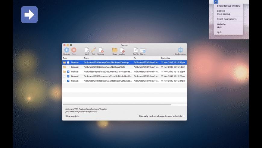 Backup for Mac - review, screenshots