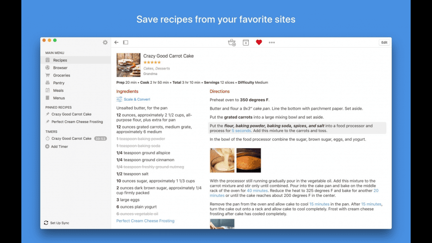 Paprika Recipe Manager for Mac - review, screenshots