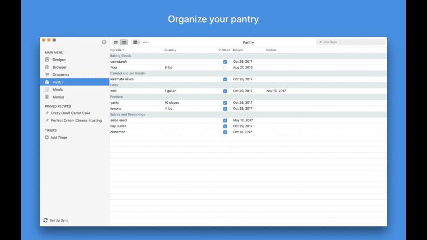 Paprika Recipe Manager for Mac - review, screenshots