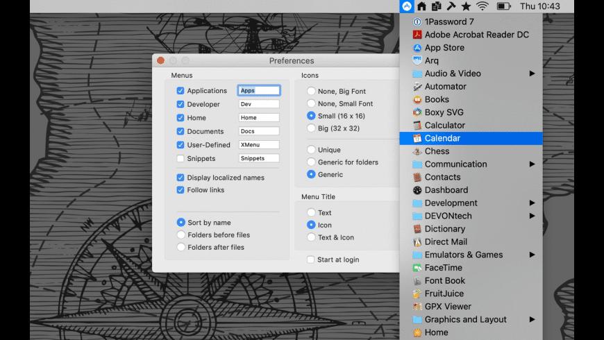 XMenu for Mac - review, screenshots