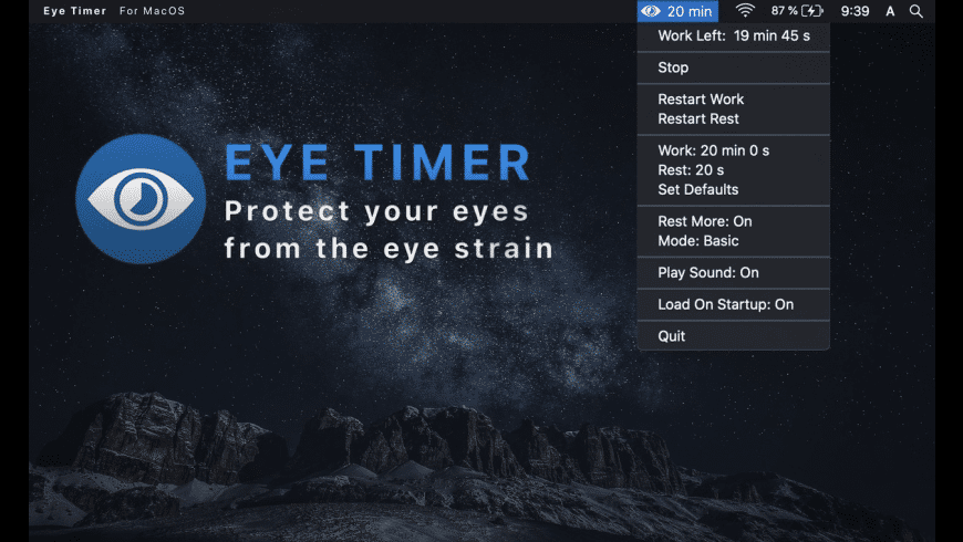 Eye Timer for Mac - review, screenshots
