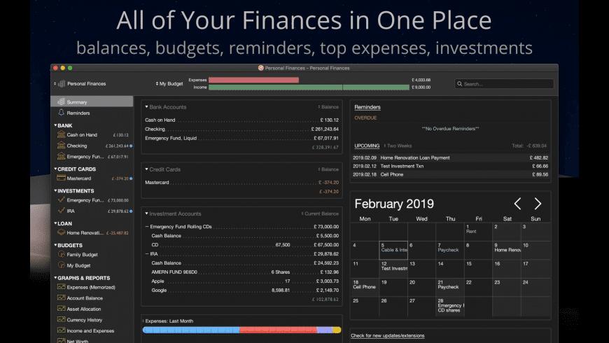 Moneydance for Mac - review, screenshots