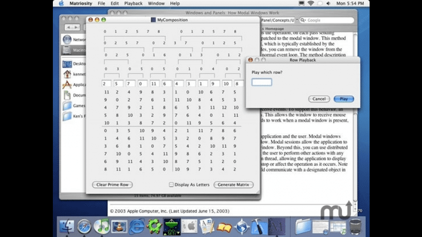 Matriosity for Mac - review, screenshots