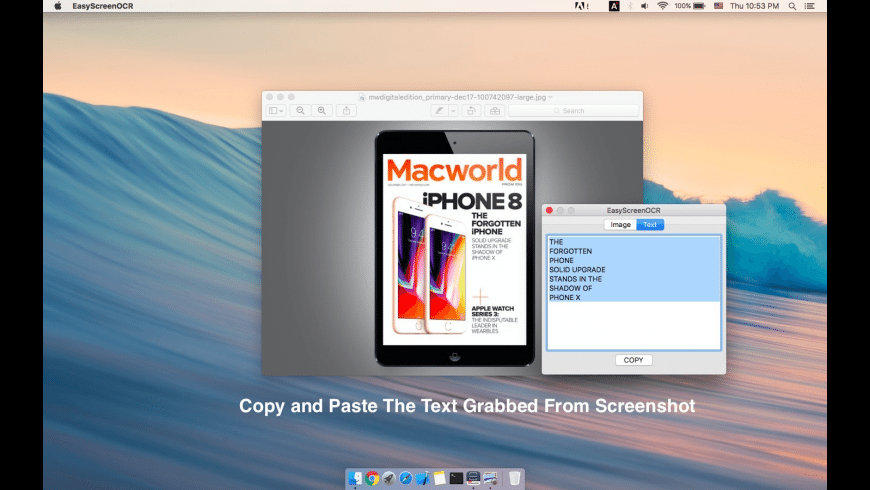 Easy Screen OCR for Mac - review, screenshots