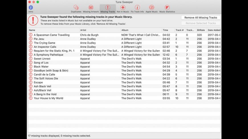 Tune Sweeper for Mac - review, screenshots