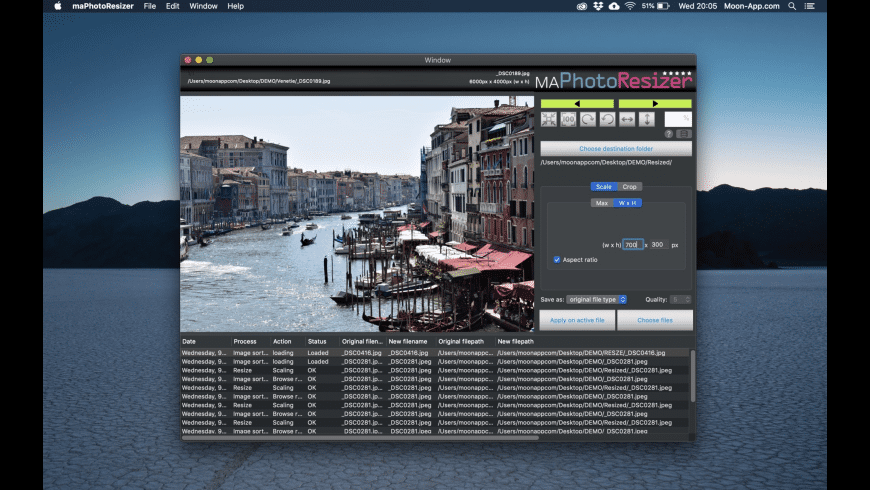 maPhotoResizer for Mac - review, screenshots