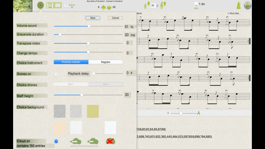 Bagpipe Player for Mac - review, screenshots