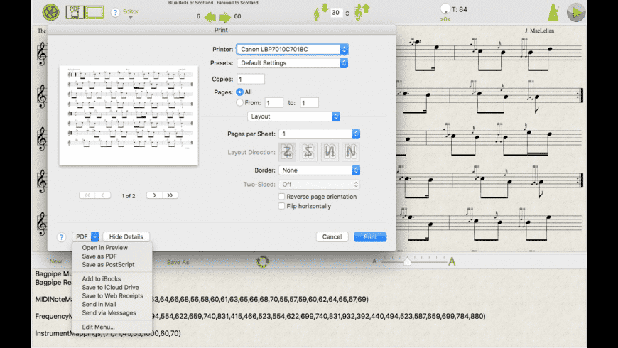 Bagpipe Player for Mac - review, screenshots