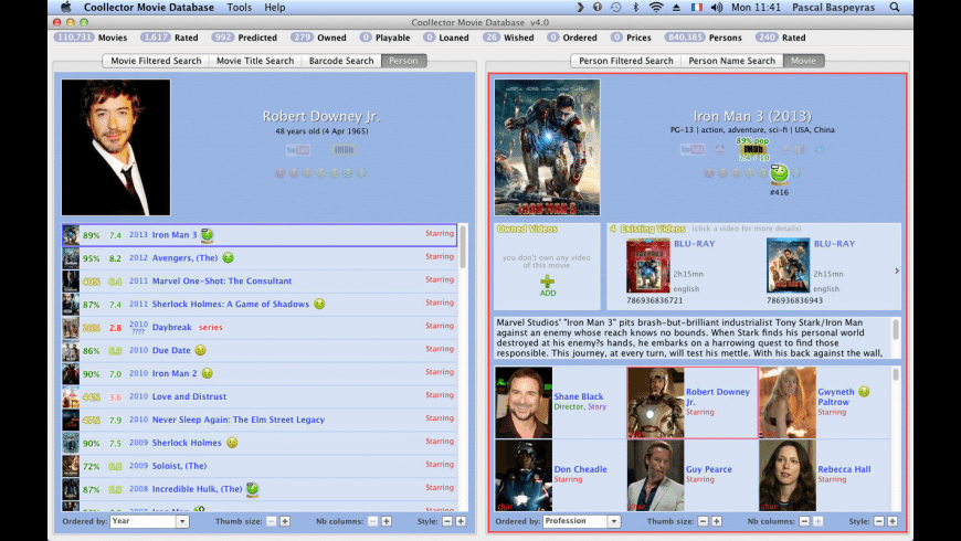 Coollector Movie Database for Mac - review, screenshots
