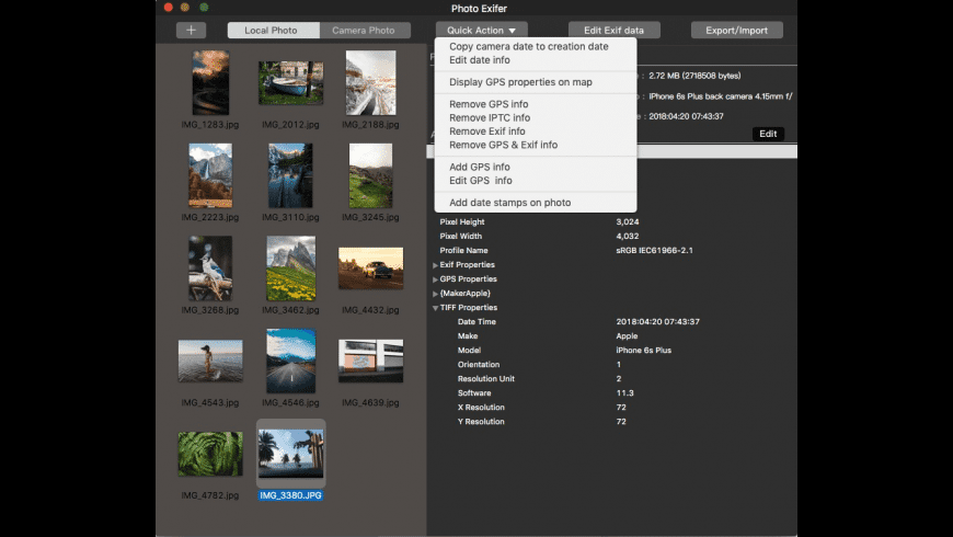 Photo Exifer for iOS for Mac - review, screenshots