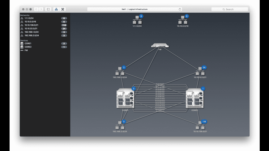 NetworkView for Mac - review, screenshots