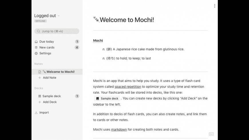 Mochi for Mac - review, screenshots