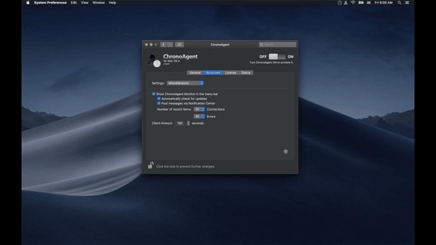 ChronoAgent for Mac - review, screenshots