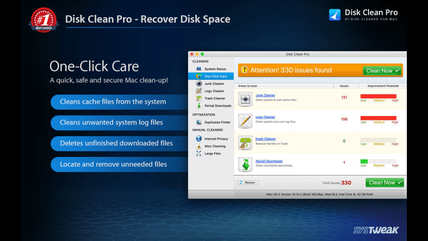 Disk Clean Pro for Mac - review, screenshots
