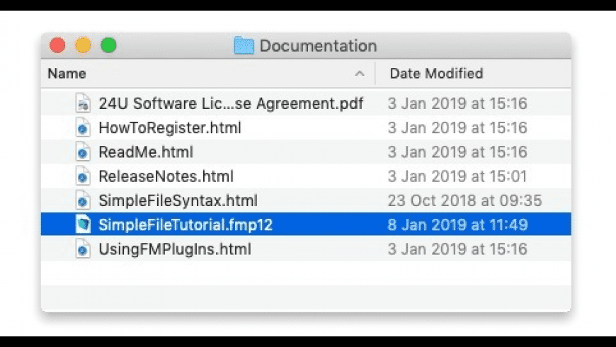 SimpleFile for Mac - review, screenshots