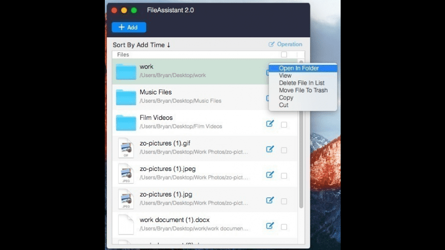 FileAssistant for Mac - review, screenshots