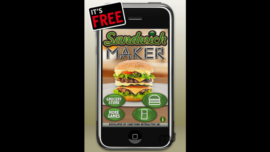 Sandwich Maker - Free for Mac - review, screenshots